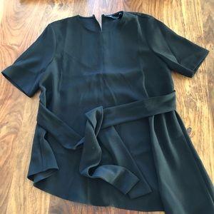 Zara wide leg asymmetrical top pantsuit